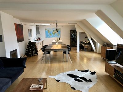 Photo for Charming penthouse apartment. Private rooftop terrace.  Best location