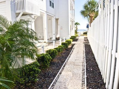 Photo for Beautiful 1 Bedroom Garden Unit. Just steps from the beach. NO HIDDEN FEES
