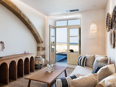 Photo for NEPHALION ONE-BEDROOM LUXURY APARTMENT SEA FRONT, KOLYMBARI HARBOUR, CHANIA