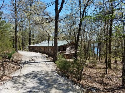 Photo for Latham's Log Cabin - Swim Dock, Lakefront & Secluded!  The Best Lake Experience!