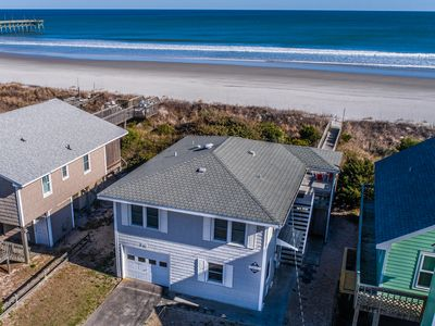 Photo for TWO SUNS: 3 BR / 2 BA oceanfront in Topsail Beach, Sleeps 6 - Oceanfront!