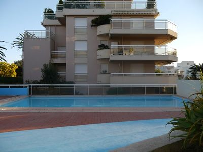 Photo for BAIE DE JUAN - One bedroom with swimming pool and parking