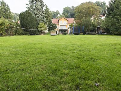 Photo for Huge garden with a tree house, log cabin sauna, volleyball, football, trampoline