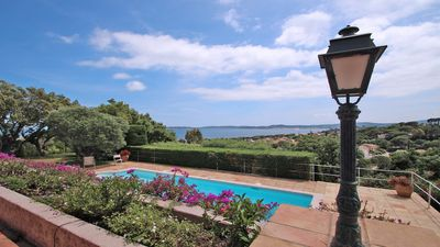 Photo for Villa 12 people - Sea view - Private pool - Wifi - Air conditioning - Sainte Maxime