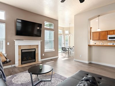 Photo for NEW!  Modern Meridian vacation home - Foosball, Air Hockey, Steps from POOL