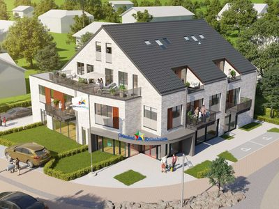"""Photo for Apartment """"Ankerplatz"""" New - with 2 bedrooms and 2 balconies"""