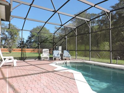 Photo for Stunning home with private South facing pool. gated Resort close to Disney,