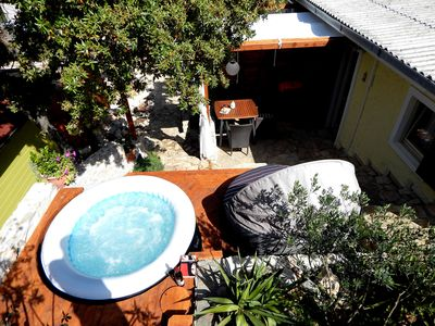 Photo for Comfy PRIVAT falt with JACUZZI few steps from OCEAN