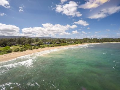 Photo for Beachfront w/ miles of private white sandy beach and sand bar to swim