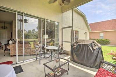 Spend all day in this vacation rental's screened-in patio.