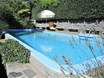 Photo for Ticino holiday house with private pool and large garden, panoramic view of the l