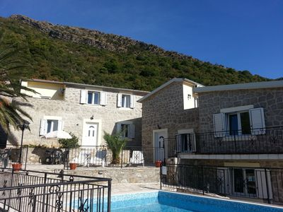 Photo for Perfect for12 people, 2 km to sea, Sun Terraces, Sea View,Pool, 3 separate units