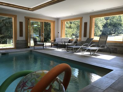 "Photo for LUXURY CHALET ""Le Lynx"" 170m² 8 Pers: PRIVATE POOL & SAUNA: PROMO APRIL"