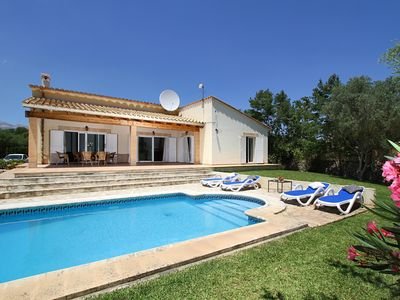 Photo for Villa with air con and wifi also heated pool,and lovely gated gardens. ETV/3383