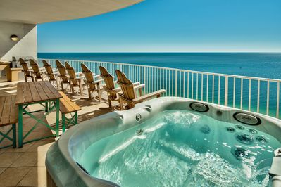 Private Jacuzzi on your own Gulf-front balcony
