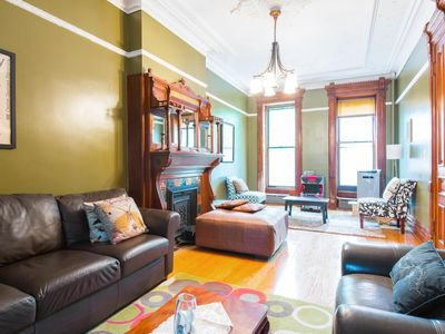 Photo for Brooklyn's Favorite Edwardian Brownstone Apt w/Gdn in Hipster Bed-Stuy