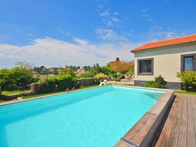Photo for Contemporary villa with pool in the heart of Vence