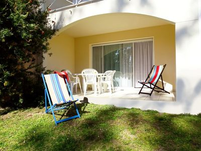 Photo for Beach vacation at 500 m! comfort with terrace, wifi, sheets, swimming pool and parking