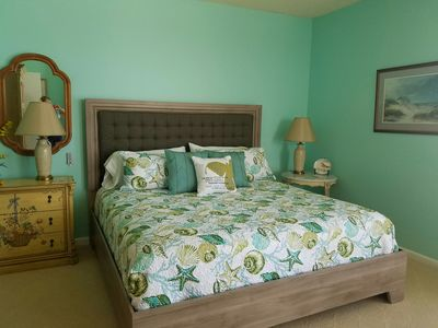 Master Bedroom with king bed, private bath