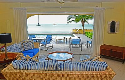 Inside Sea Belle looking out.  Great view from any seat.