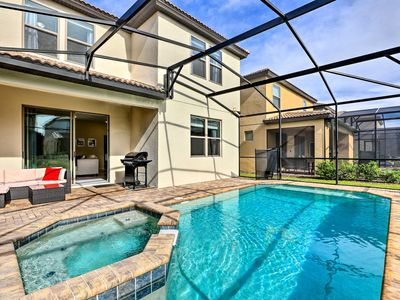 Photo for Luxe, Modern Villa w/ Heated Pool, 12Mi to Disney!