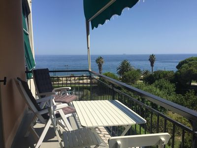Photo for Panoramic three-room apartment 10 steps from the beach completely renovated