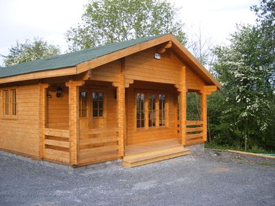 Exterior View of Log Cabin