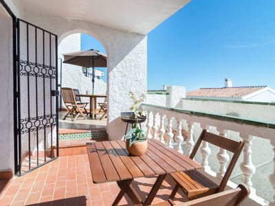Photo for Two bedrooms with sea views and huge terrace