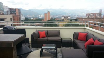 Photo for 3 Bedroom PH Roofdeck, Ac, Hot Tub, 3 Blocks To Park Lleras