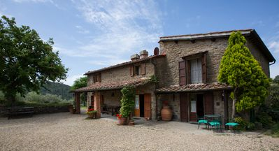 Photo for Podere Montebono stone farmhouse with pool in exclusive, 30 km from Florence