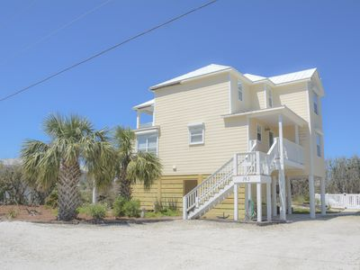Photo for 3/3 Gulf View home, Pool, Pet friendly, steps to the beach.