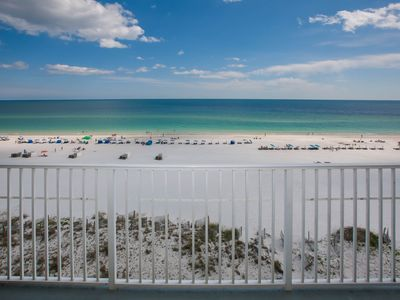 Photo for Updated with fun coastal decor! Corner unit with goegeous views! Clean, comfy!
