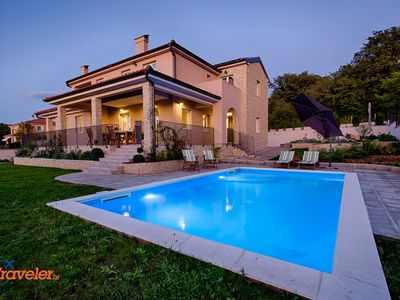 Photo for New villa with pool, garden full of Mediterranean plants, sea view, wine cellar
