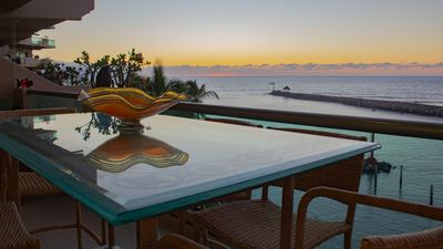 Photo for New Listing! Amazing 2 Story, 3 BR Lux Ocean Front Penthouse w/ Huge Terrace!