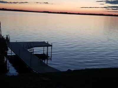 Castle Rock Lake waterfront property with pier