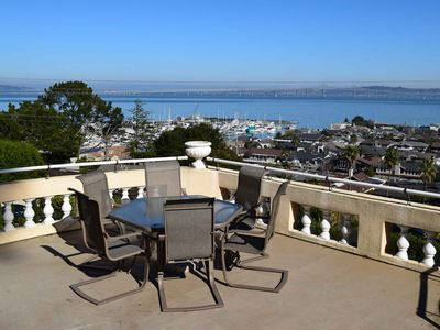 Photo for Private Tiburon Home with San Francisco Bay and Yacht Harbor View and Spa