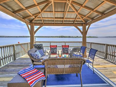 Photo for Prime Lakefront Granbury House w/ 2-Story Dock!