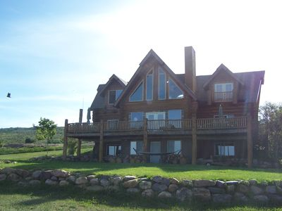 Photo for Shelton Lodge CUSTOM BUILT LOG CABIN NEAR BEACH & WALK TO THE DOWNTOWN, W/VIEW