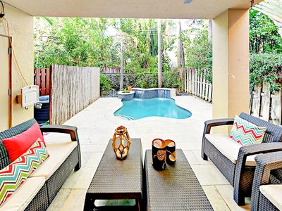 Photo for Luxe 3BR Townhouse w/ Private Pool ? Minutes to Beach, Shopping, & Dining
