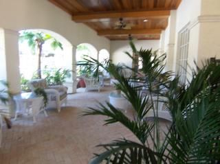 The veranda next to the pool with internet access.
