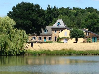 Photo for Farmhouse in the woods, on a lake shore