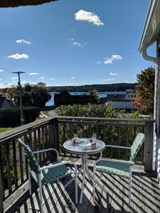 Private Deck with view of the harbor