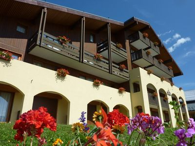 Photo for At the foot of the slopes of Valmorel with a panoramic view of the peaks and 50m from the heart of the resort