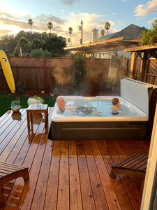 New 6 person hot tub and deck.