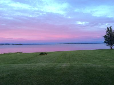 Welcome to our tranquil, Lake Champlain hideaway, as viewed from the back porch.