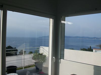 Photo for Le Lavandou apartment great sea views CAVALIERE
