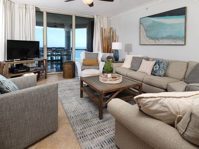 Photo for Gorgeous Condo,  Portfino Island, Gulf-front Private balcony, Two Pools and Two Hot Tubs