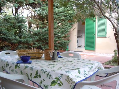 Photo for Apartment on 2 floors with 2 bedrooms and 2 bathrooms,large garden.Close to the beach