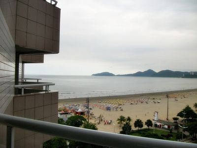 Photo for 1 bed flat. 43m2 -in Boqueirão - facing the sea with garage, A / C and services