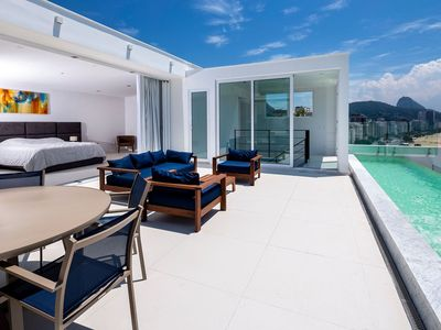 Photo for Rio009 - Luxury 6 bedroom penthouse in Copacabana